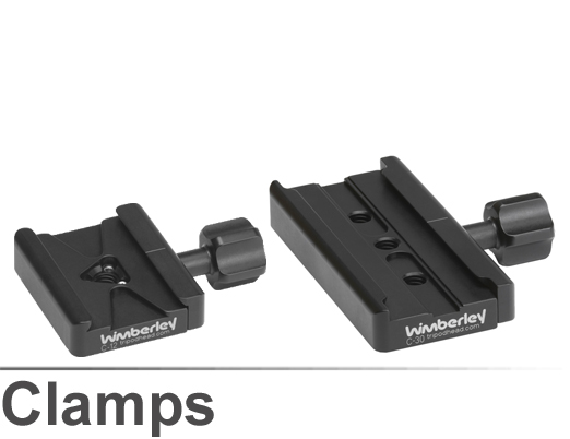 Collage of Wimberley C-12 and C-30 Quick Release Clamps